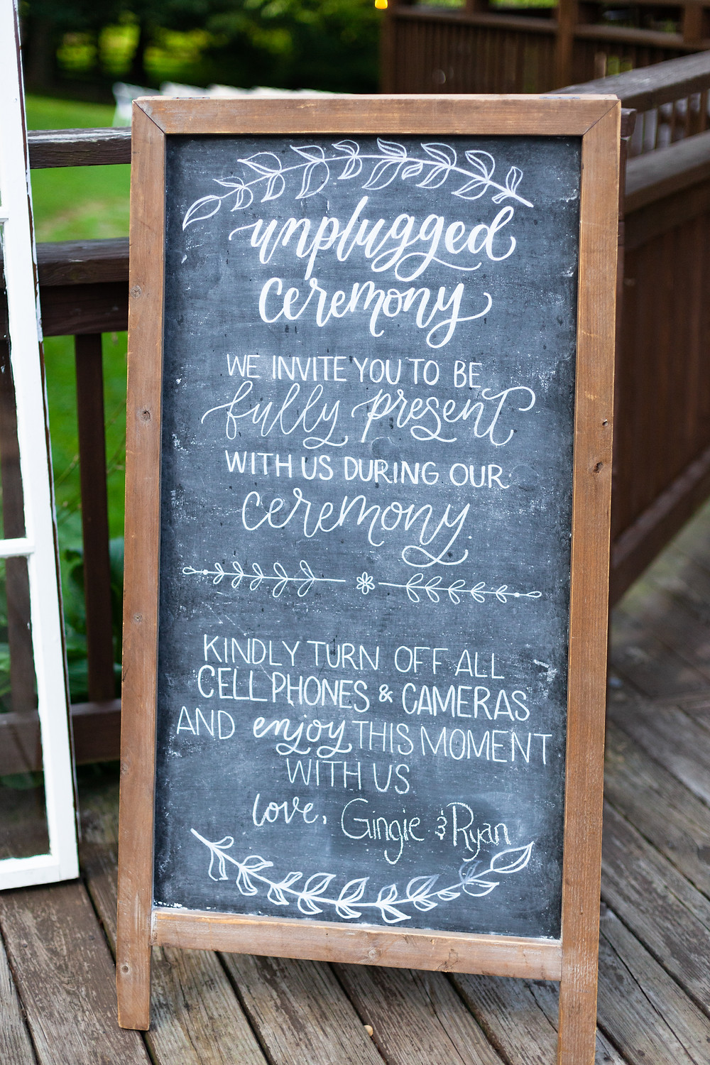 Unplugged ceremony sign ideas