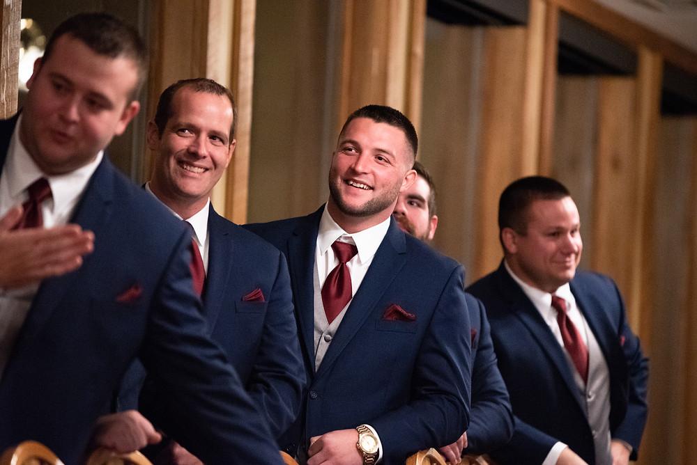 Candid photo of the groomsmen at Morningside Inn