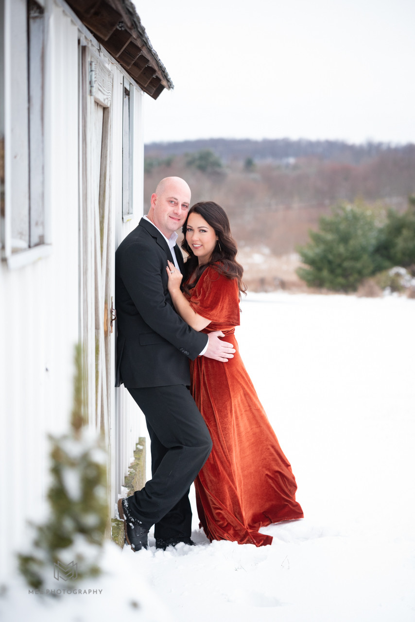 Snowy anniversary photos in Hookstown, PA