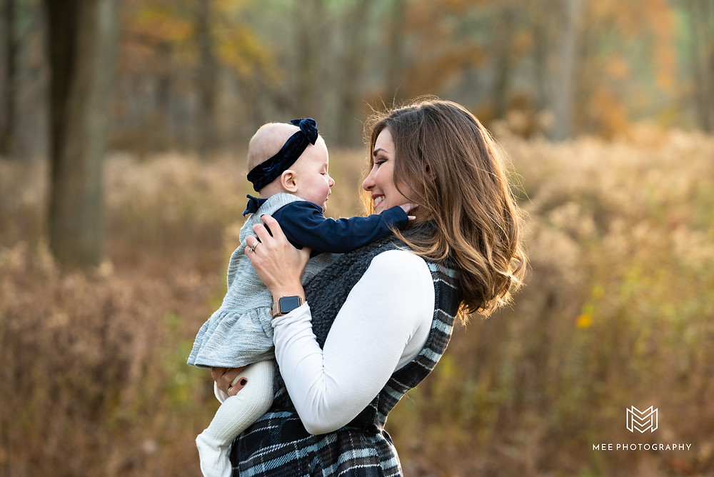 Mom and baby fall photos