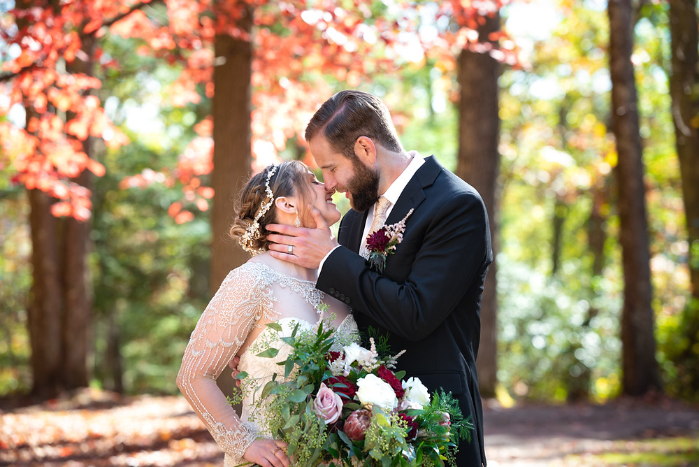 Bride and groom portraits at Coopers Rock State Park in Morgantown, West Virginia