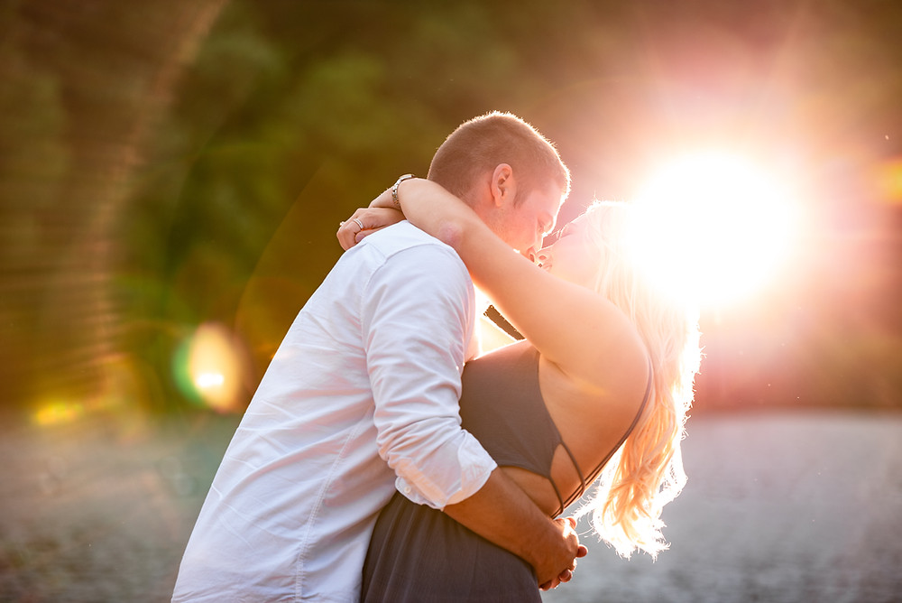 Sunset engagement session at Raccoon Creek State Park