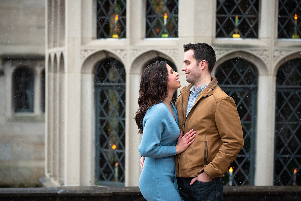 Pittsburgh engagement photo location at Hartwood Acres