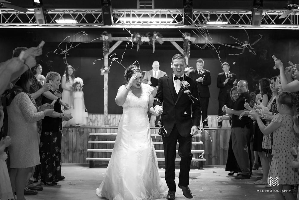 Confetti popper wedding send-off
