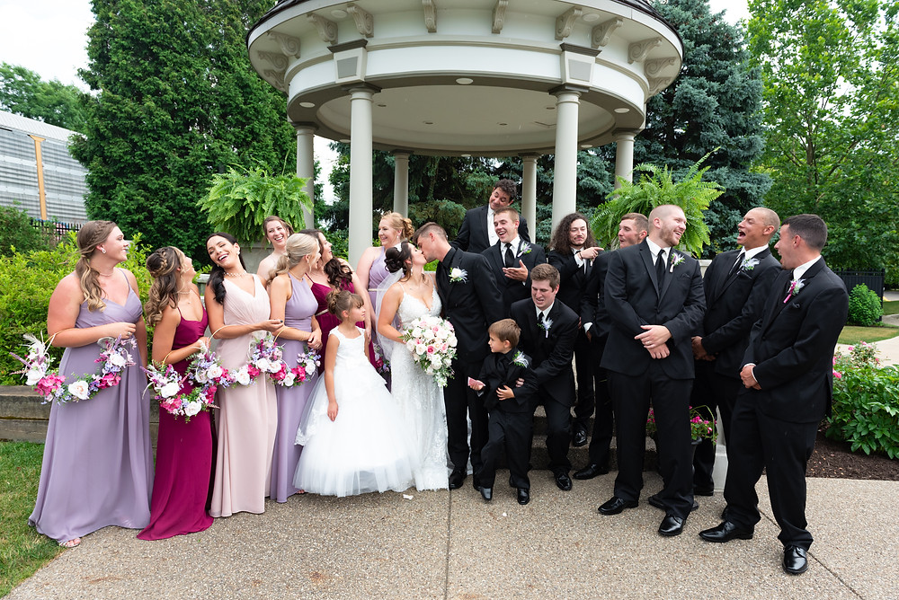 Bridal party photos at the Beaver Station Cultural and Event Center