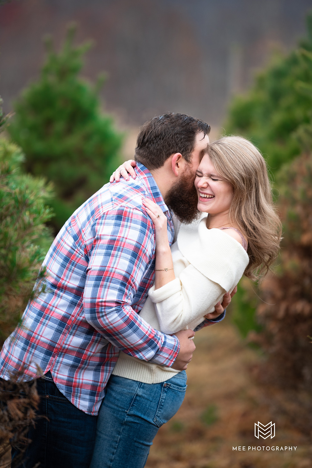 Couples Christmas card photoshoot in Morgantown, WV