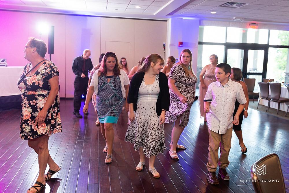 DJ Ran keeping the dancing going at the wedding reception