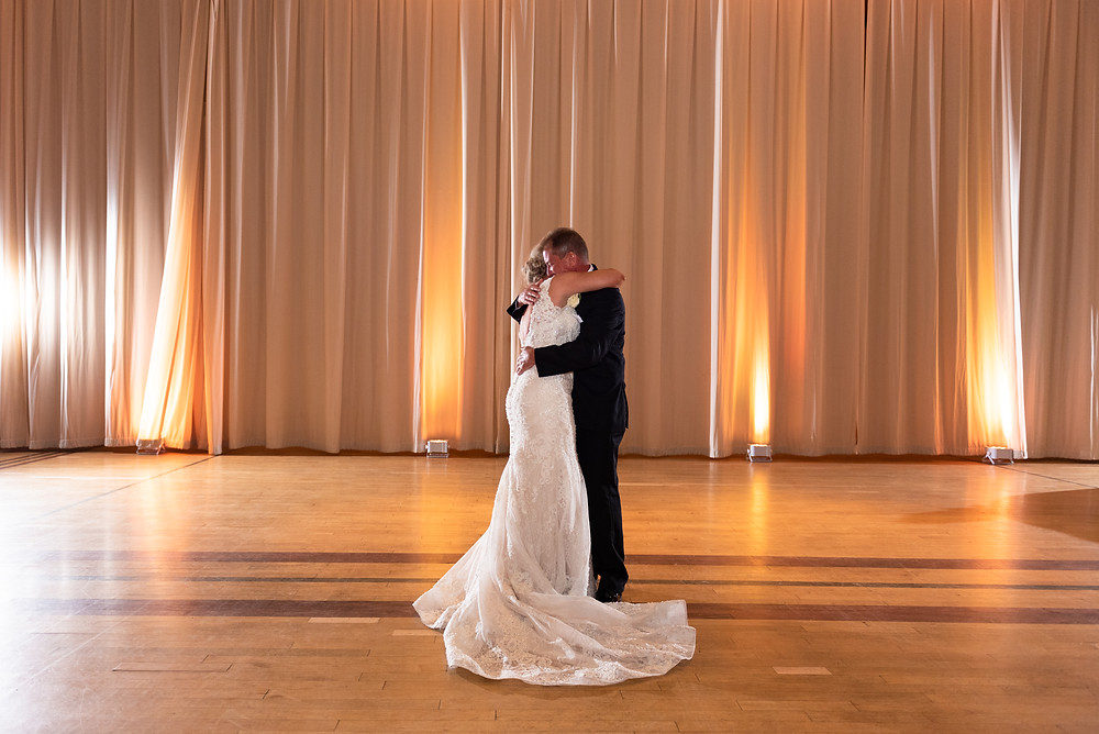 Father daughter dance at the Circuit Center