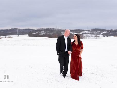 Beaver County, PA Winter Couple's Session | Amelia & Greg