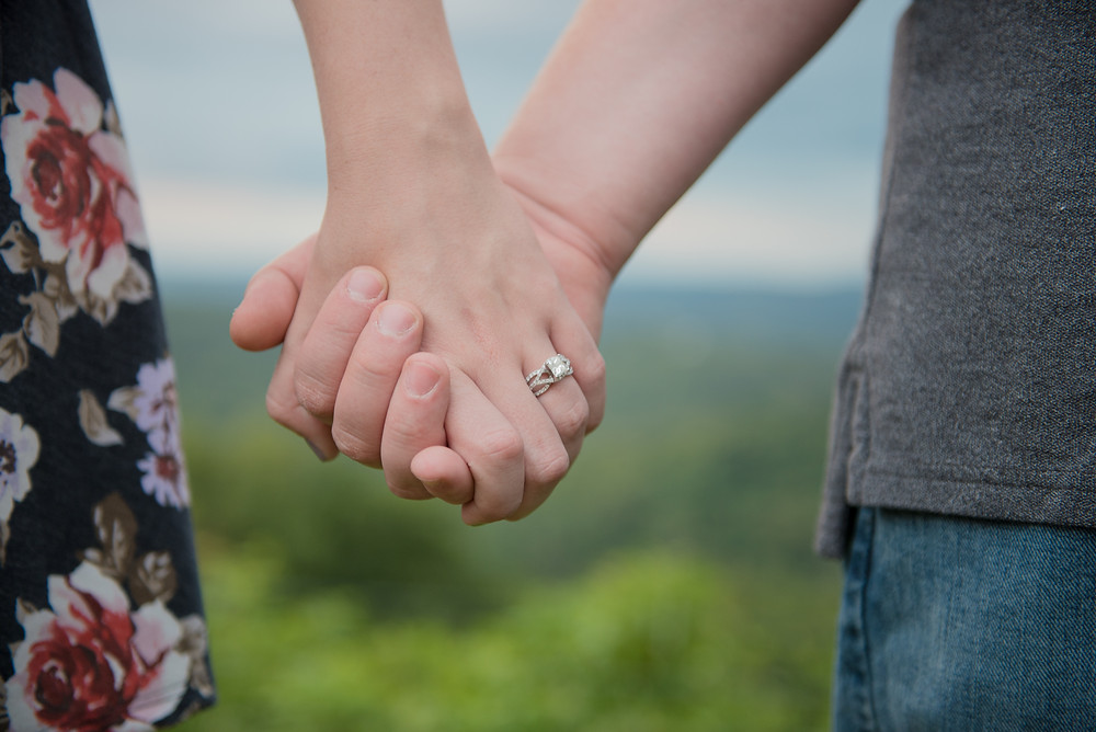 An engagement session at Dorseys Knob Park in Morgantown, WV.