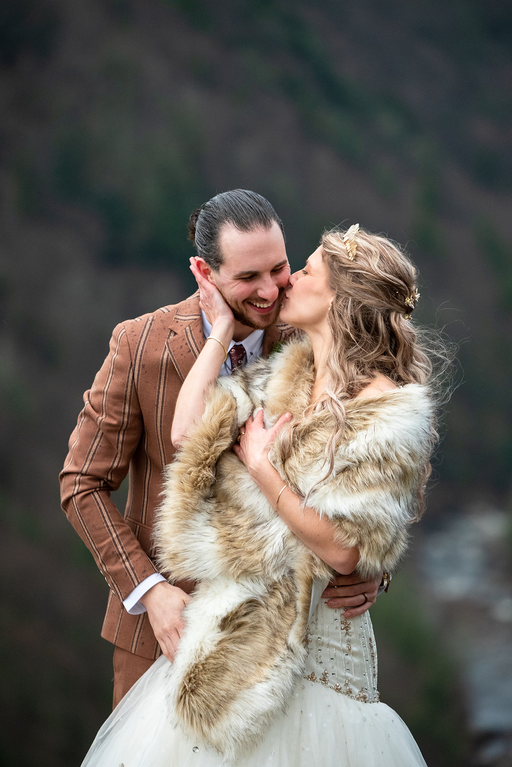 Blackwater falls elopement in West Virginia