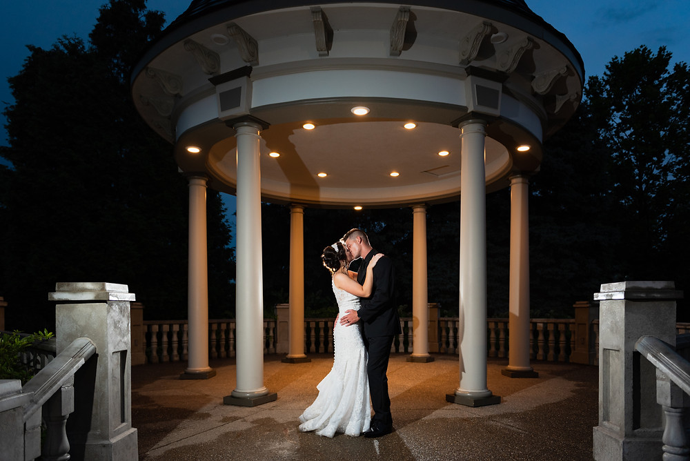 Night wedding photography ideas at the Beaver Station Cultural and Event Center