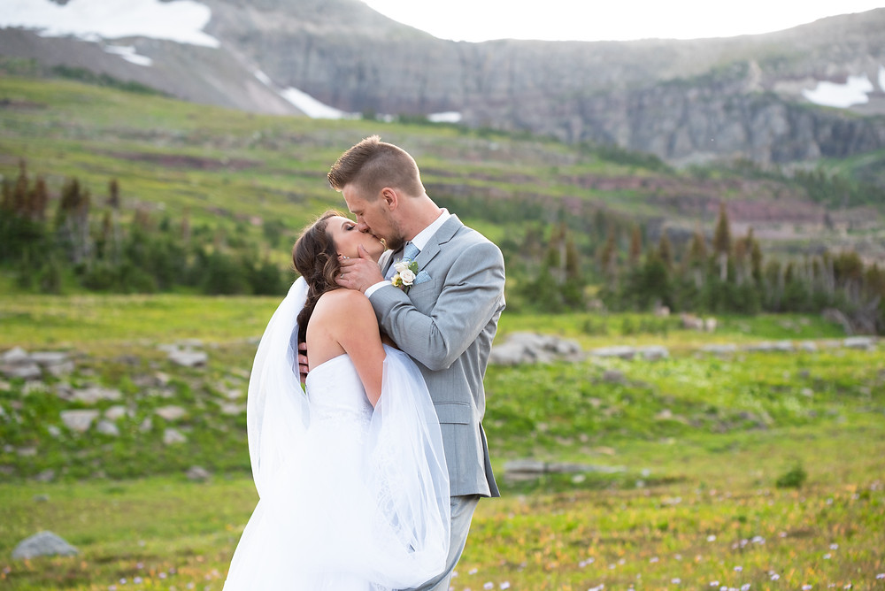 Mountain wedding at Glacier National Park