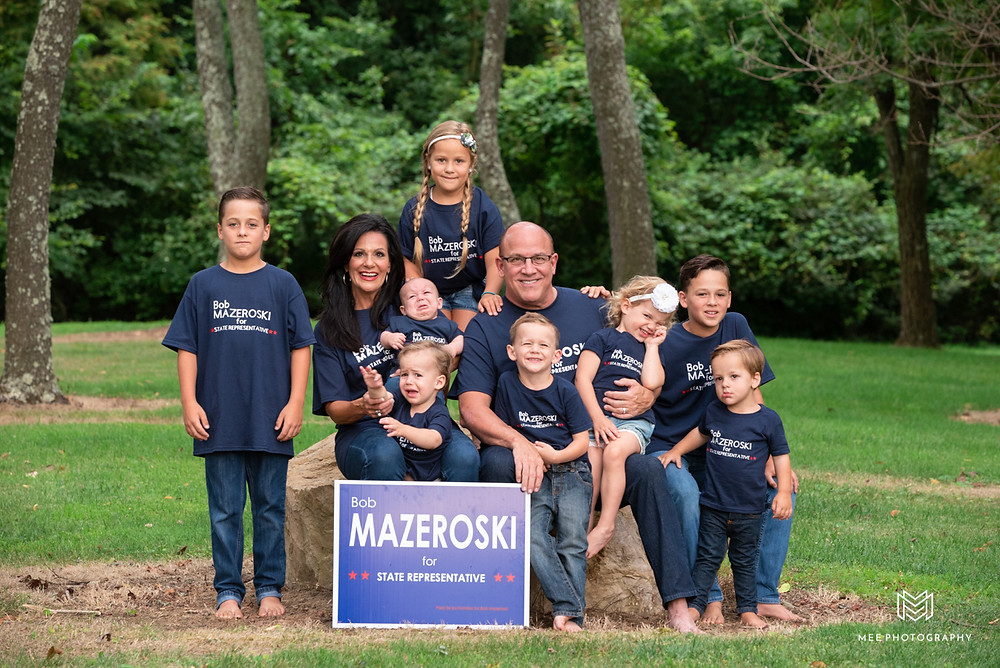 Bob Mazeroski for State Representative in Ohio family photo shoot