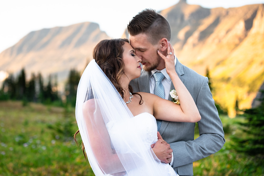 Mountain wedding at Logan Pass in Glacier National Park