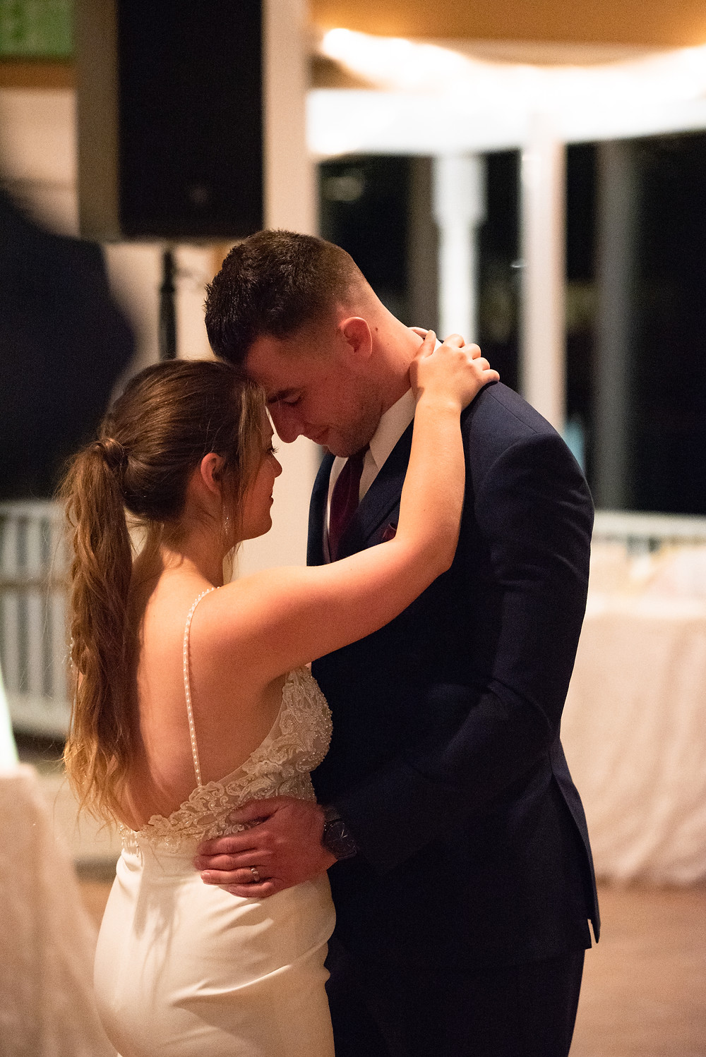 First dance as husband and wife during a wedding reception at Morningside Inn in Frederick, Maryland