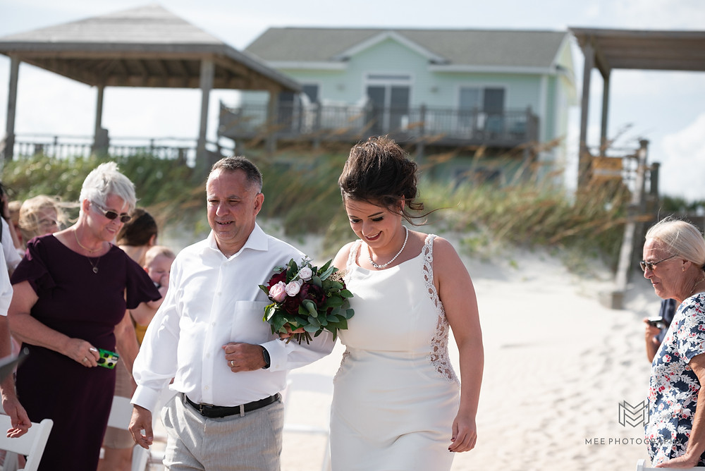 North Topseail NC beach wedding