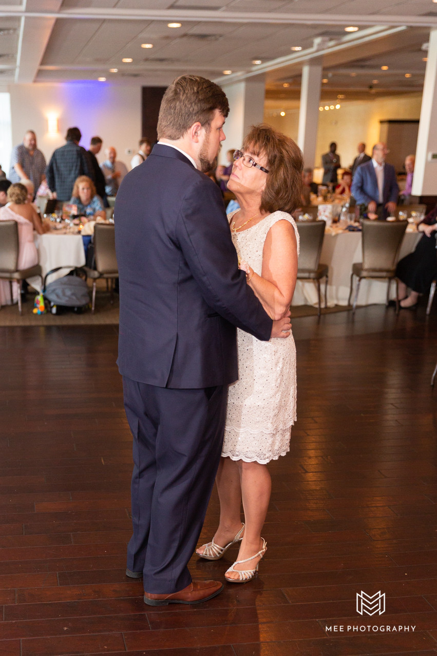 Mother and son wedding reception dance