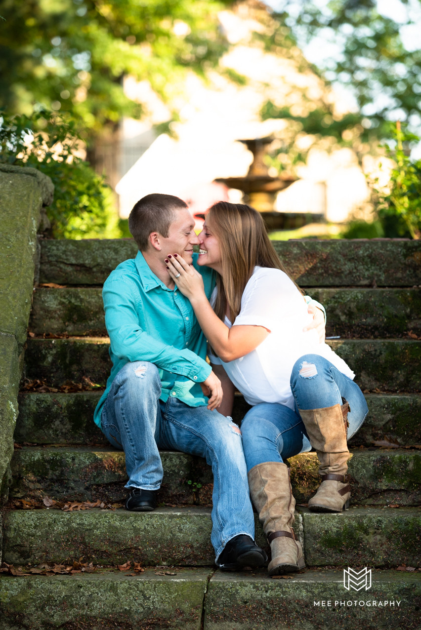 Fairmont, WV engagement session with couple posed sitting