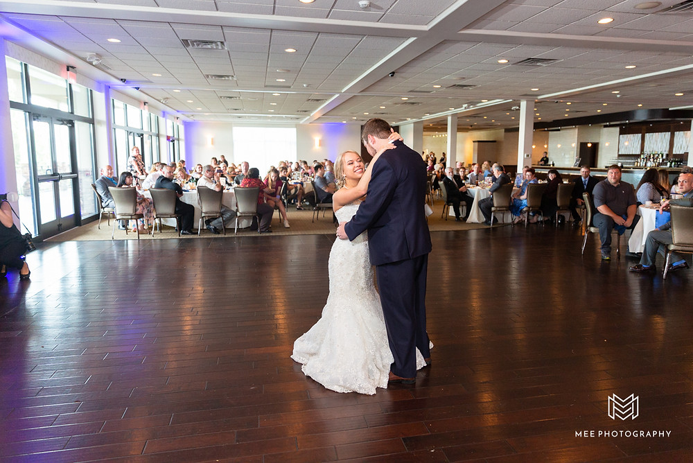First dance as husband and wife at The Lake Club