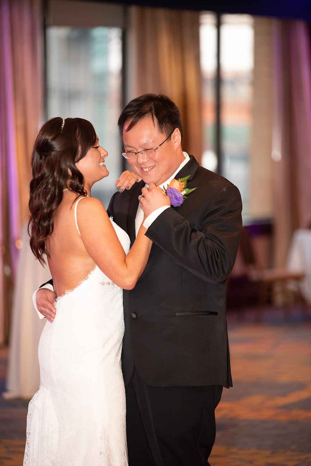 First dance as husband and wife in Pittsburgh, PA