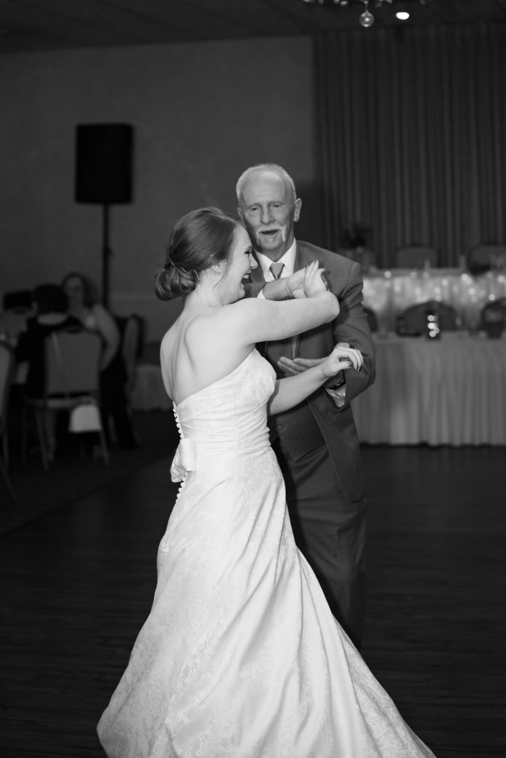 Father daughter dance at the Fairview Sunset Room near Pittsburgh