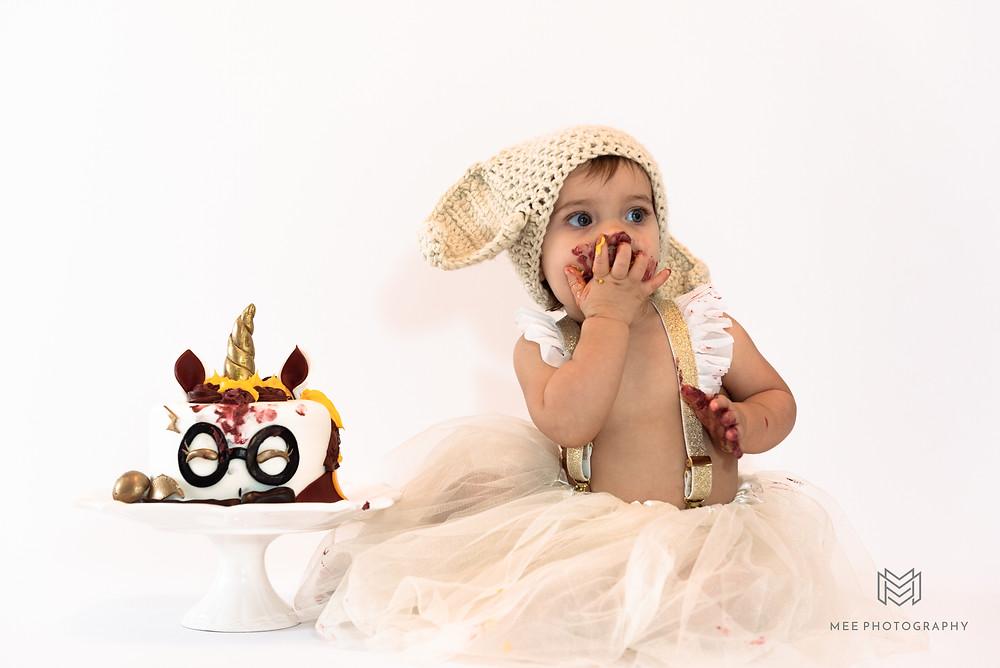 First birthday Harry Potter cake smash with red velvet fondant cake