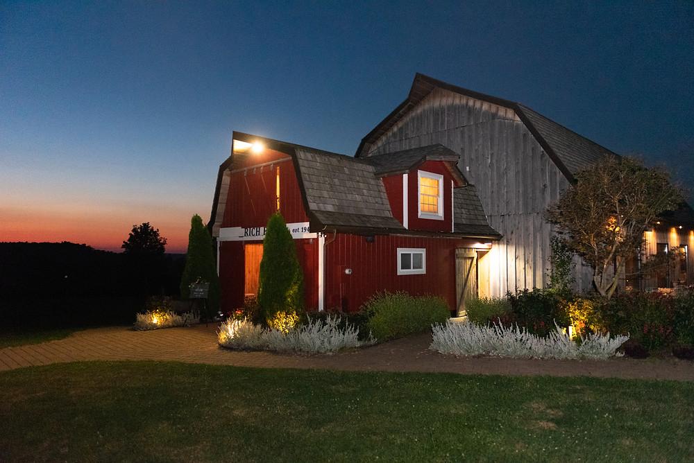 The barn at Rich Farms Nursery