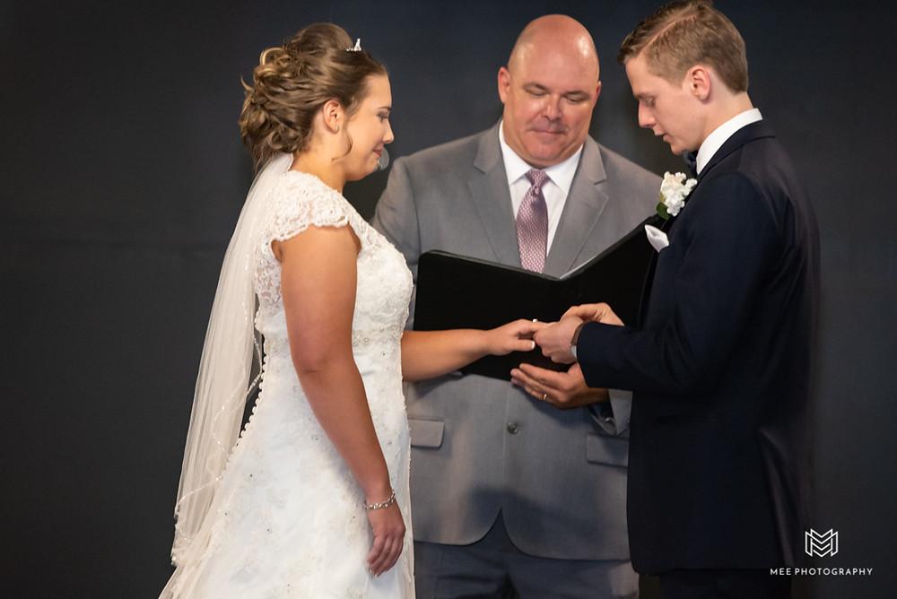 Exchanging of wedding bands