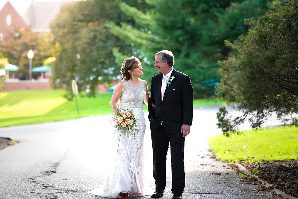 Montour Heights Country Club fall wedding near Pittsburgh.