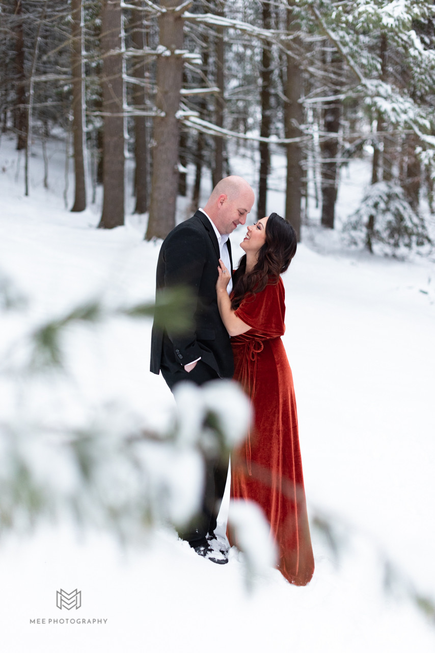 Beaver County, PA couple's session in the snow