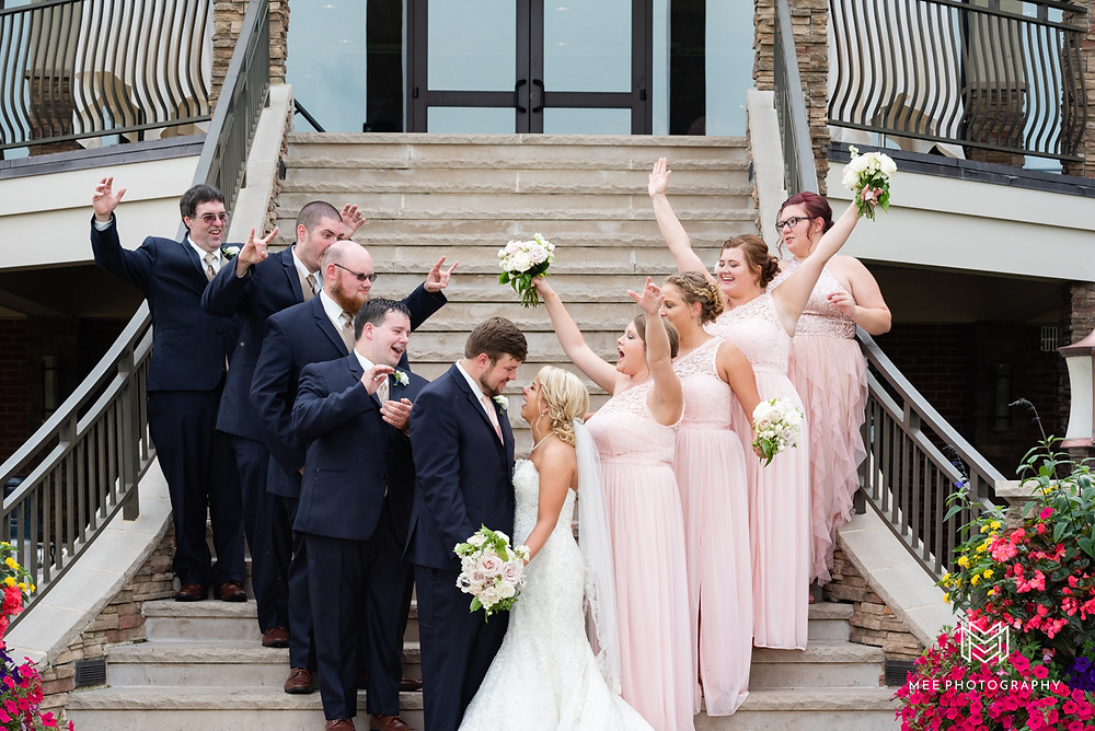 Bridal party excited for the newlyweds