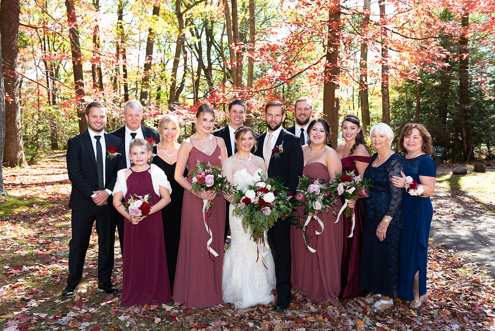 Family wedding portraits at Coopers Rock