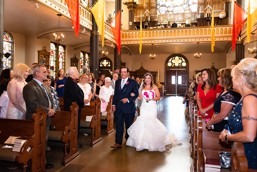 Wedding ceremony at St. Stanislaus Kostka in Pittsburgh