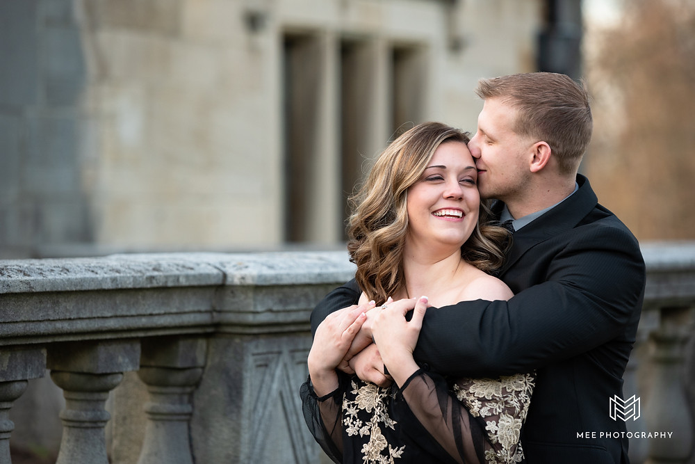 Fun Pittsburgh engagement session at Hartwood Acres Park