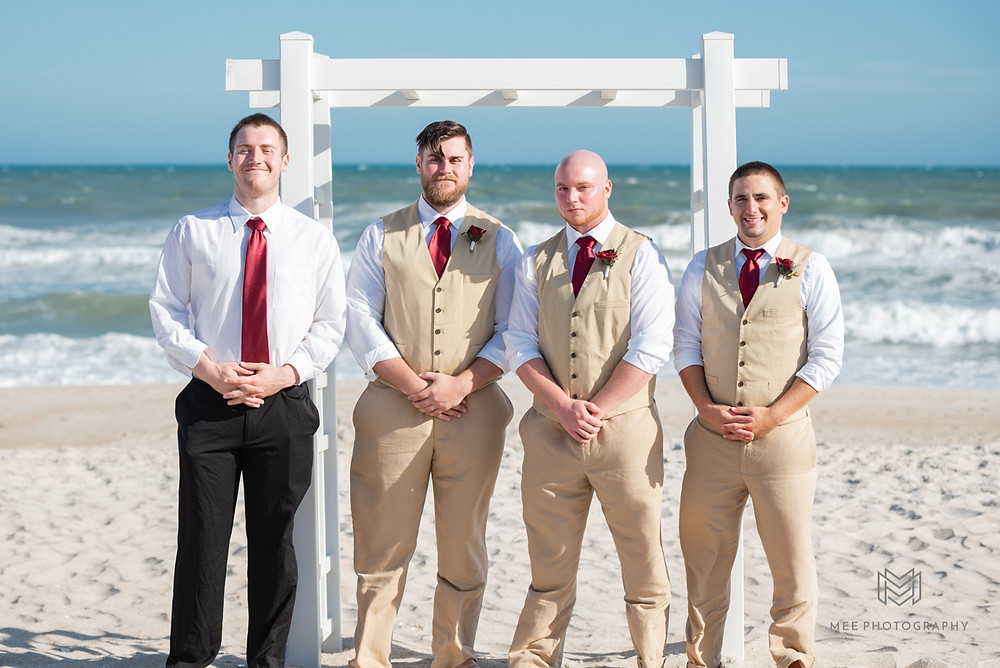 Groomsmen portraits on North Topsail beach