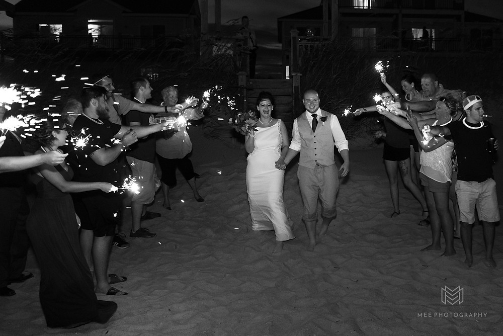 Sparkler send off on Topsail beach, NC