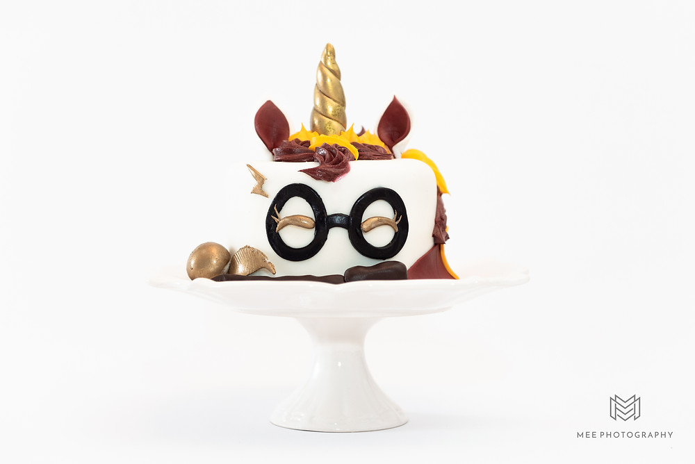 Harry Potter theme unicorn cake from Simply Sweet Cakes in Wellsville, Ohio