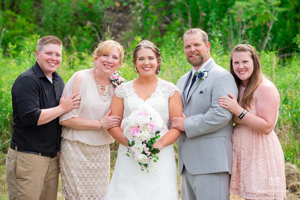 Bride's family formal photographs