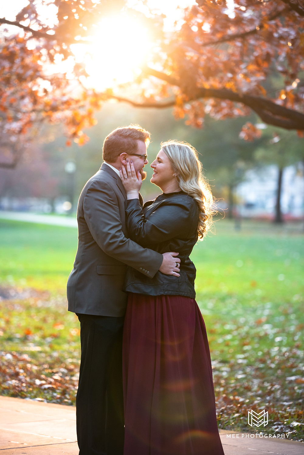 Oakland, Pittsburgh winter engagement session at sunset