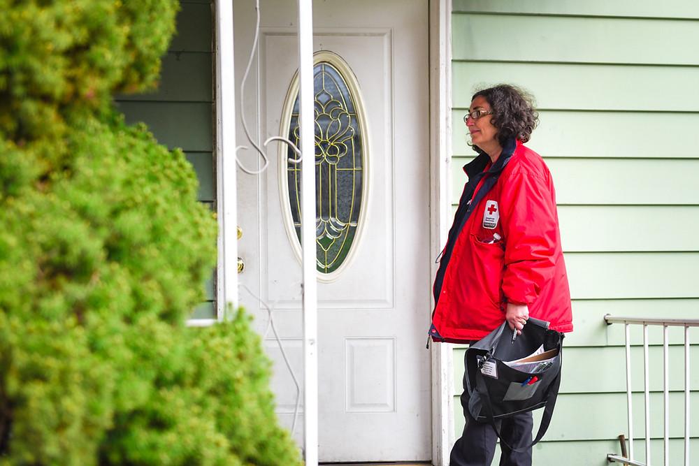 Going door to door with the Red Cross to install smoke detectors