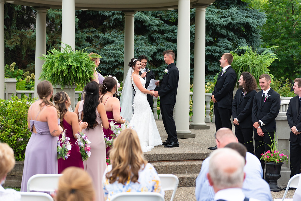 Wedding ceremony at the Beaver Station Cultural and Event Center