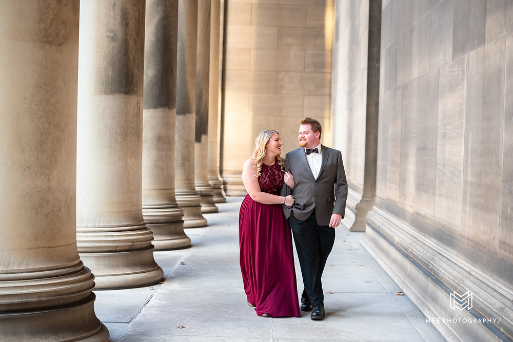 Pittsburgh engagement photographer near Oakland