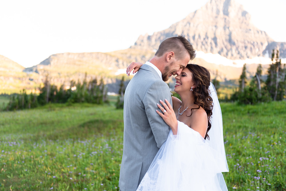 Mountain elopement in Glacier National Park