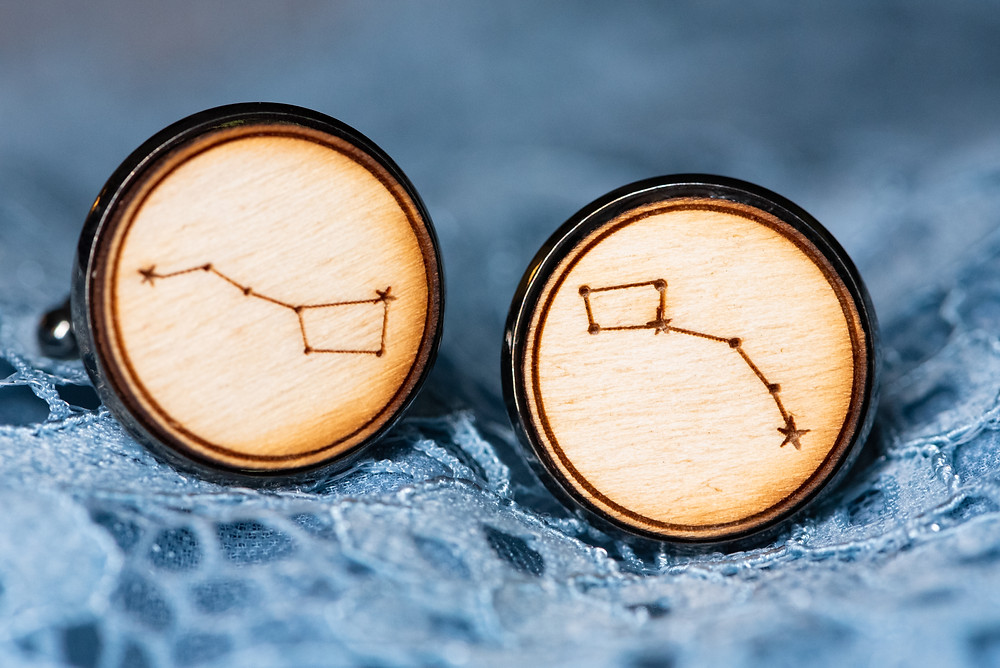Constellation wood cuff links