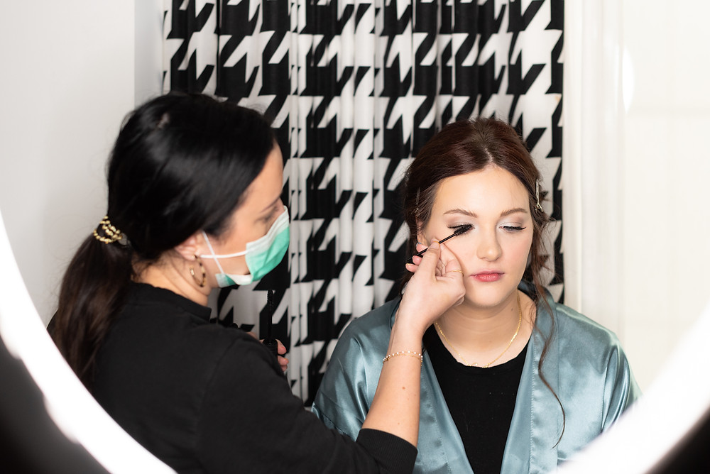 Glam to go bridal hair and makeup in Pittsburgh, Pennsylvania