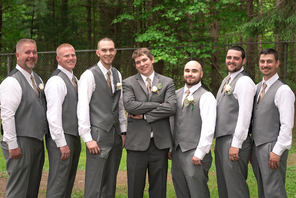 Groom with groomsmen at Hanover Park