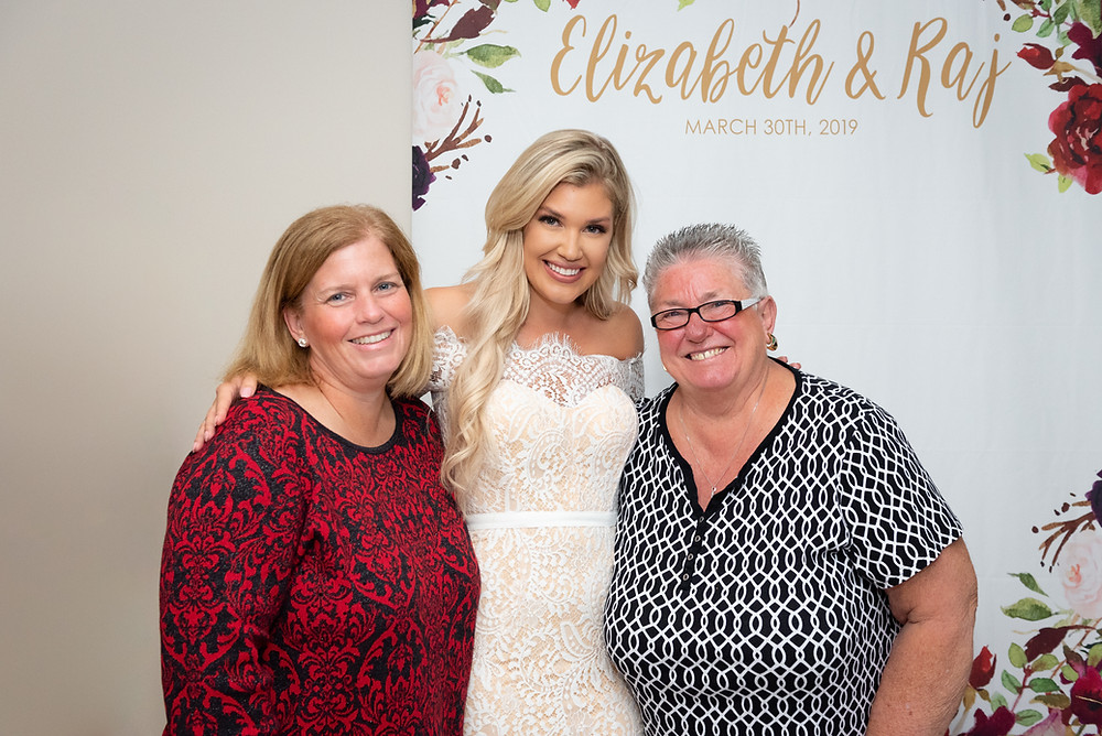 Miss Pennsylvania 2015 posing for a picture with her family at her Pittsburgh bridal shower