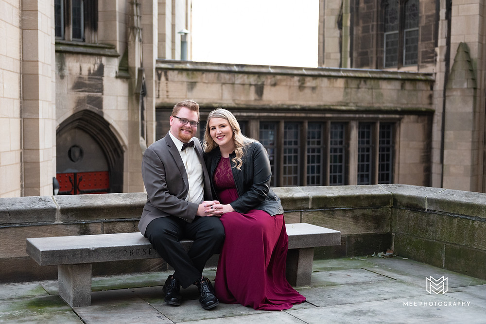 Engagement session at Heinz Memorial Chapel