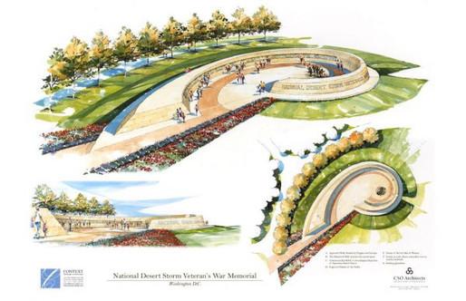 National Desert Storm War Memorial Association Receives Concept Approval of Design